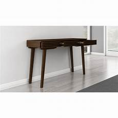furnitech 54 quot mid century modern sofa table in a cognac