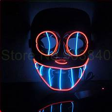 Light Up Halloween Accessories New Arrive Halloween Ghost Light Up Glowing El Wire Mask