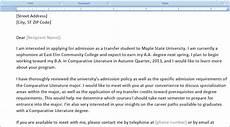 University Transfer Letter Sample Sample College Transfer Meeting Requesting Letter To