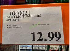 Acrylic Tumblers 8PC Set ? CostcoChaser