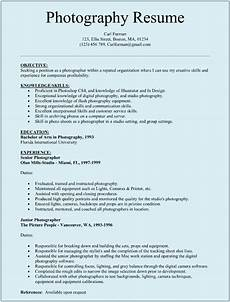 Sample Professional Resume Templates Photographer Resume Sample Sample Resumes