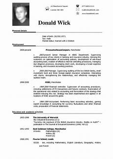 Resume In Doc Good Format Of Cv American Curriculum Good Resume Examples