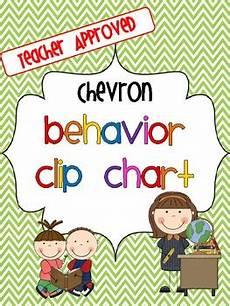 Chevron Behavior Clip Chart Chevron Behavior Clip Chart Includes 7 Levels Freebie Tpt