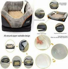 joyelf large memory foam orthopedic pet bed removable