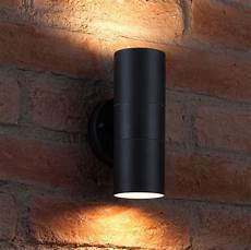 Black Outdoor Up And Down Lights Auraglow Up Amp Down Outdoor Wall Light Winchester Black