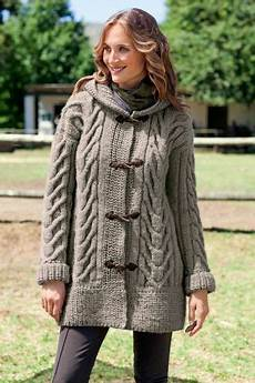 chunky cable duffle coat with s xl sizes