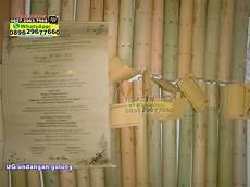 undangan bambu gulung undangan pernikahan unik harga murah