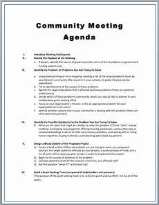 Community Meeting Agenda Community Meeting Agenda Template Printable Meeting