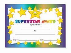 Child Award Certificate Superstar Award Certificates Schools Teachers Kids