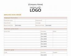 Employment Status Report Employee Status Report Employee Status Report Template