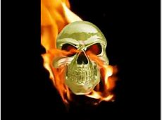 Skull On Fire Red Eyes Ace Live Video Wallpaper   YouTube