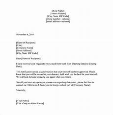 Letter Of Absence Free 12 Leave Of Absence Letter Templates In Pdf Ms