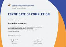 Certificate Of Successful Completion Free Completion Certificate Template In Adobe Photoshop