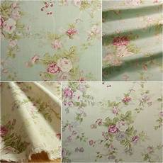 vintage style shabby chic linen blend fabric flowers