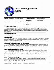 Examples Of Meeting Minutes 4 Sample Meeting Minutes Template Teknoswitch