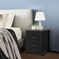yaheetech bedside table nightstand with 2 storage drawers