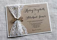 Lace Wedding Invitation Rustic Wedding Invitation Lace Wedding Invitation Rustic