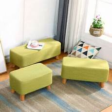 linen fabric padded removable washable footstool
