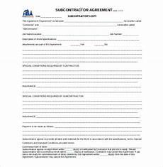 Free Subcontractor Agreement Subcontractor Agreement Template Subcontractor Contract