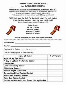 Raffle Ticket Price Raffle Ticket Order Form For Classroom Baskets