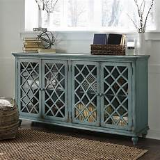 mirimyn antique teal accent cabinet w 4 doors signature