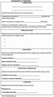 College Application Essay Outline Essay Template For College Sample Of College Essay
