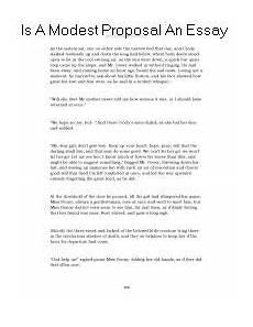 A Modest Proposal Essay Is A Modest Proposal An Essay