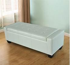 homcom modern faux leather ottoman footrest sofa shoe