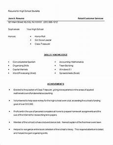 Sample Resumes For High School Students 15 Sample High School Resume Templates Pdf Doc Free