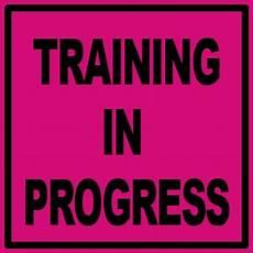 Training In Progress Sign Custom Text Sign 1050 Technologies