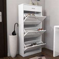 modern white high gloss shoe cabinet shoe rack with 4