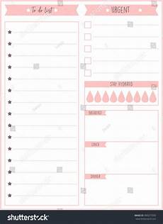 Simple Daily Planner Template Cute Daily To Do List Template World Of Reference