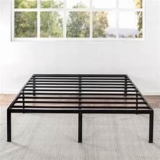 shop size 14 inch metal platform bed frame crown