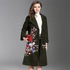 plus size coats for wool aliexpress buy 2018 new womens embroidery woolen