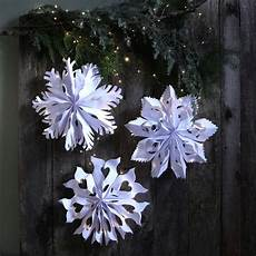 3d Paper Snowflake Giant 3d Paper Snowflake Pendants From Paper Bags A
