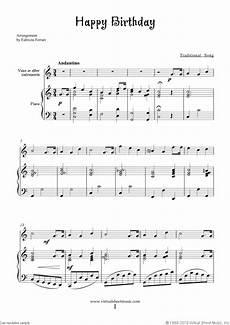 Free Sheet Music Charts Happy Birthday Free Sheet Music To Download For Piano