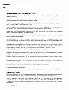 Contract For Photography Services Template Photography Contract Template Free Download Create Edit