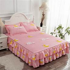 polycotton fitted bed sheet floral printed bed skirt