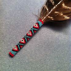 beaded feather quot circle 8 beadwork quot american
