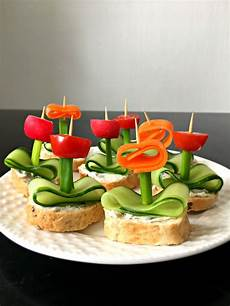 vegan flower appetizers with herb quot cheese quot the