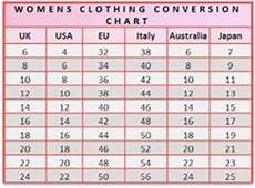 Women S Clothing Conversion Chart Uk U S And Europe Clothing Size Conversion Table