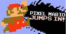 Pixelated Mario Characters Pixel Mario Jumps In Smash Bros Character