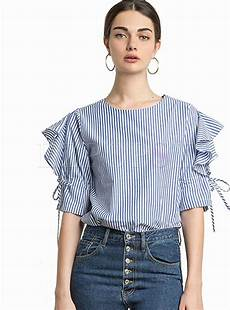 half sleeve blouse tops blouses fashion striped half sleeve blouse