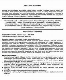 Administrative Assistant Objective Sample Free 6 Administrative Assistant Resume Objectives In Ms