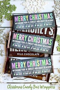 Hershey Candy Bar Wrappers Merry Christmas Candy Bar Wrappers