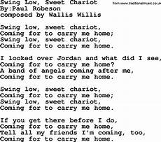 swing low lyrics swing low sweet chariot political solidarity workers