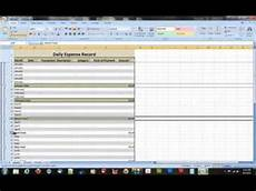 How To Create Expenses Report In Excel How To Create A Daily Expense Record In Microsoft Excel