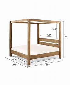 minimalist rustic modern king canopy bed white