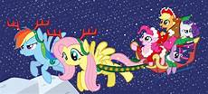 Fluttershy Christmas Lights Fluttershy And Rainbow Dash Pulling A Sleigh My Little