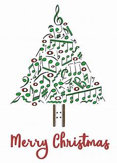 Printable Christmas Note Cards Musical Notes Christmas Tree Card By Goldenyak9753 On